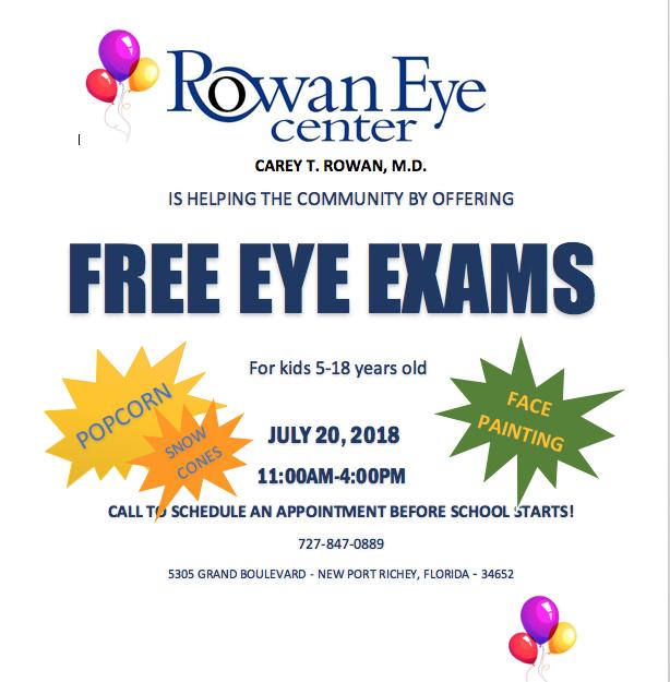 Eye Exams!