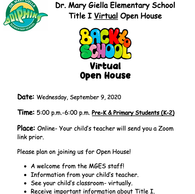 Primary Virtual Open House